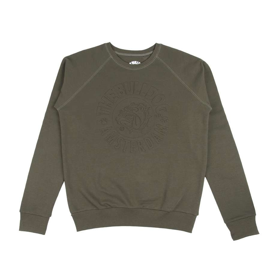 CREWNECK EMBOSSED ARMY