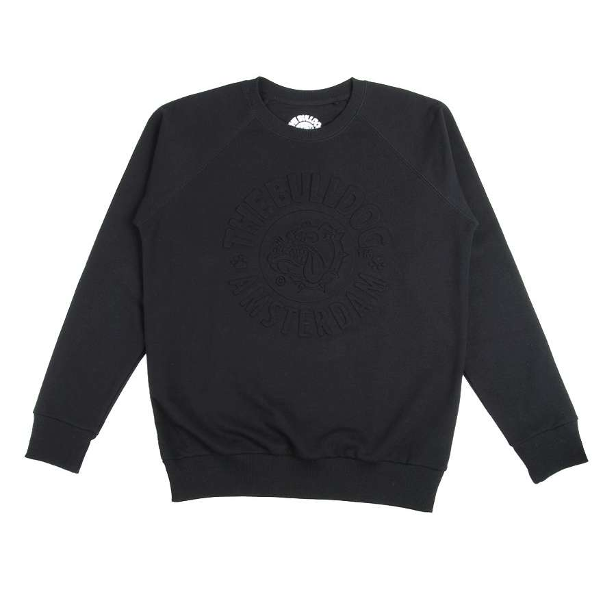CREWNECK EMBOSSED BLACK