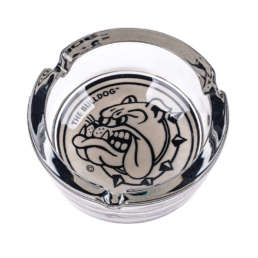 The Bulldog Glass Ashtray a quality made souvenir for the smoker. Branded with our logo in the base of the ashtray and is 10cm in diameter. Perfect for giving, as it comes in a beautiful gift box.