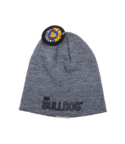 Go for the stylish outfit with this hat. It has the The Bulldog name on the front in black and is available in grey and black.