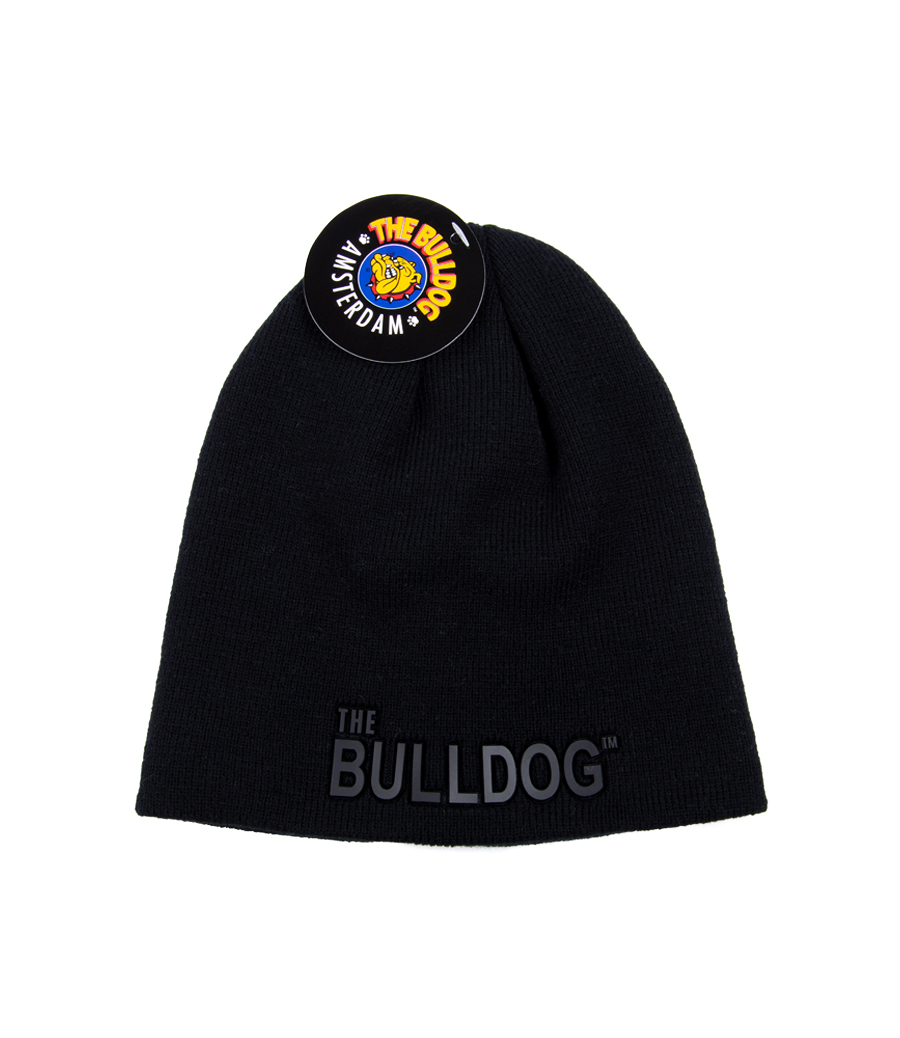 Go for the stylish outfit with this black hat. It has the The Bulldog name on the front in black and is available in grey and black.