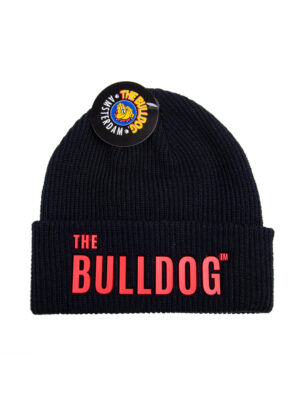 Go for the stylish outfit with this black hat. It has The Bulldog name on the front in red and is available in grey and black.
