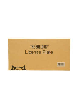this is The Bulldog License Plate
