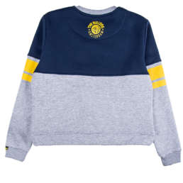 This crewneck sweater is the latest stylish design that has been added to The Bulldog Amsterdam collection. A smart yellow lettering arch across the navy half of the design displaying 'The Bulldog' and the grey half of the design holds a popular kangaroo pocket.
