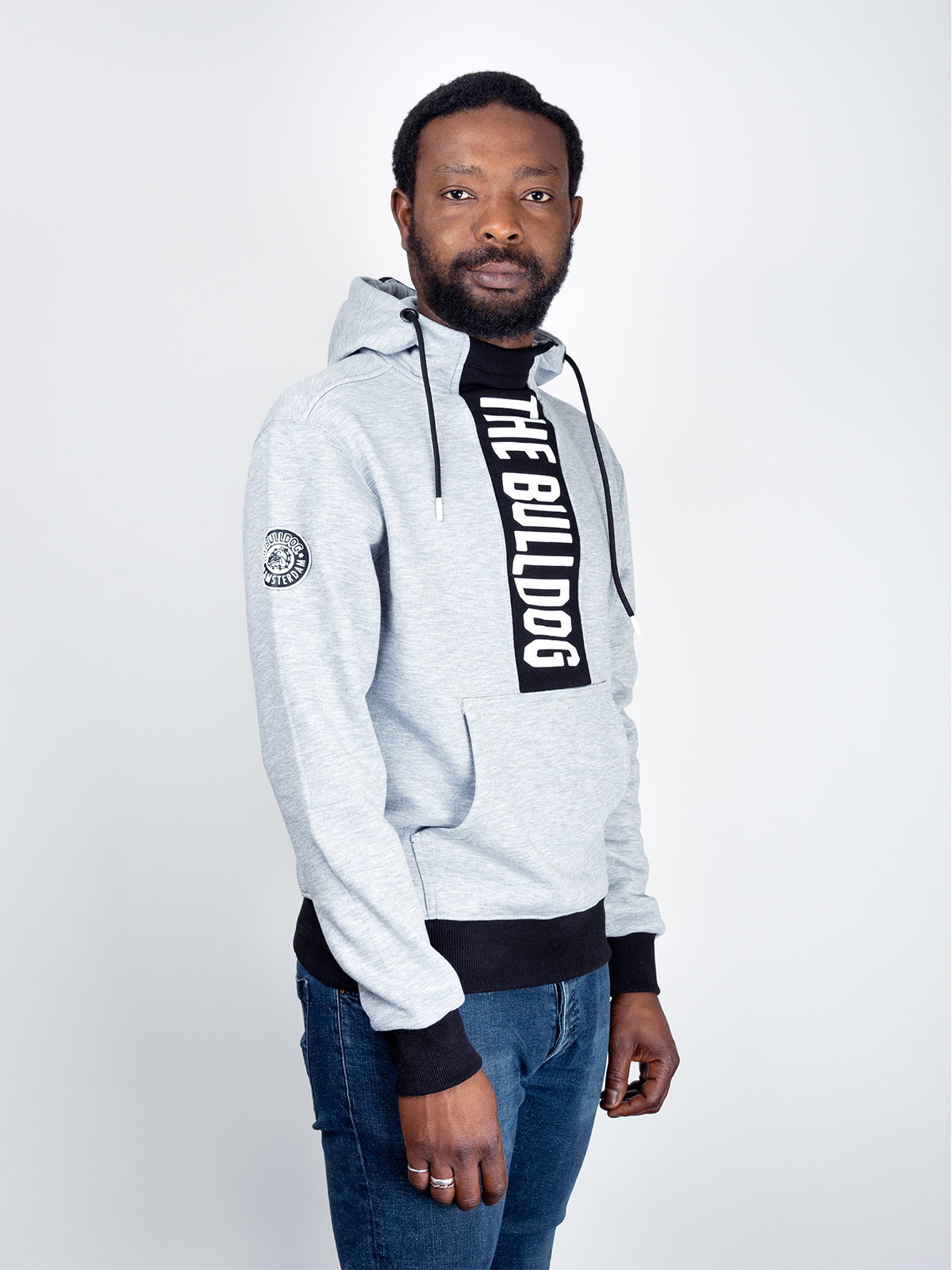 This is the TBA Anorak Hoodie in Grey