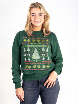 This is a Christmas Sweater in Green