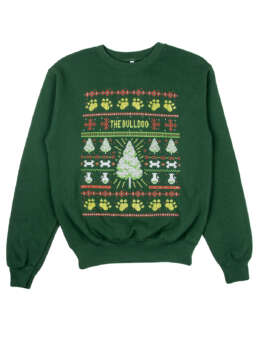 this is TBA Christmas Sweater Green