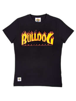 this is a Flamed Bulldog T-Shirt