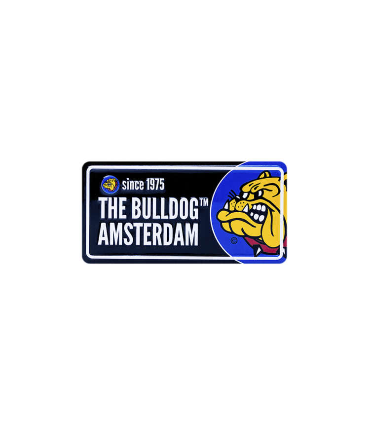 The Bulldog Licence Plate - Black