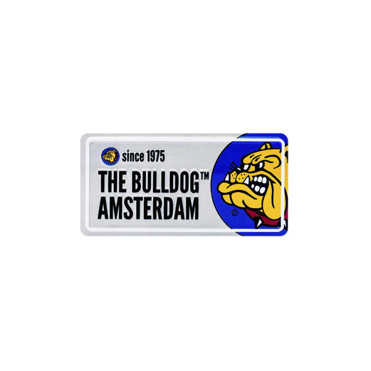 The Bulldog Licence Plate - Grey