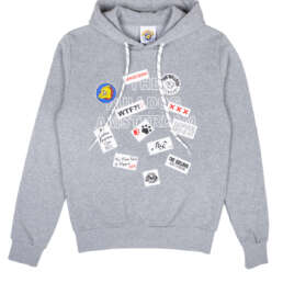 this is Patch Work Hoodie Grey