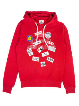 Patch Work Hoodie Red