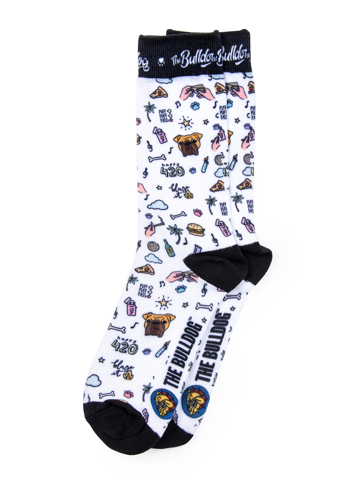 these are The Bulldog Doodle Socks