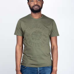 Embossed T-Shirt Army Green