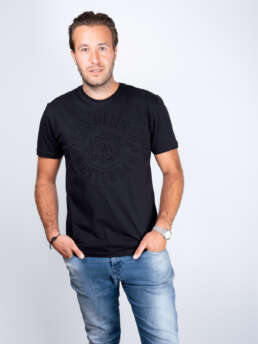 Embossed T-Shirt Black