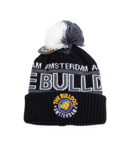 The Buldog Pom-Pom Logo black