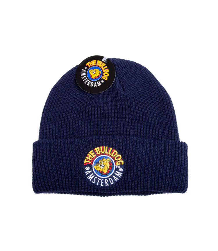 The Bulldog Beanie Logo Navy