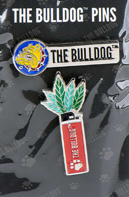 Here you buy The Bulldog-Pins-Set-Logo & Lighter