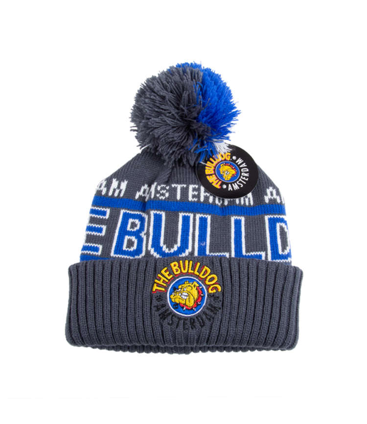 The Bulldog Pom-Pom Logo blue 1