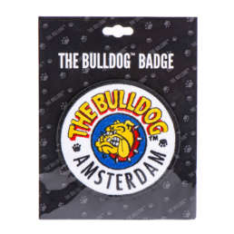 This original The Bulldog logo patch badge is perfect if you want to accessorise your clothing with an iconic iron-on logo. The badge consists of the full The Bulldog Amsterdam logo on a white background with black trim.