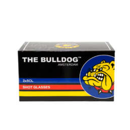 packaging of the The Bulldog Shot Glass