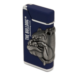 The Bulldog Blue Metal Lighter